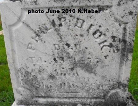DICK, PHILIP - Champaign County, Ohio | PHILIP DICK - Ohio Gravestone Photos