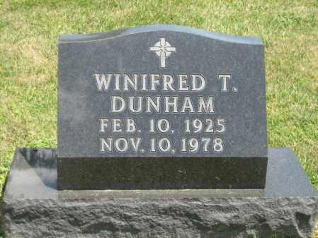 DUNHAM, WINIFRED T. - Champaign County, Ohio | WINIFRED T. DUNHAM - Ohio Gravestone Photos