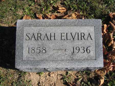 ELVIRA, SARAH - Champaign County, Ohio | SARAH ELVIRA - Ohio Gravestone Photos