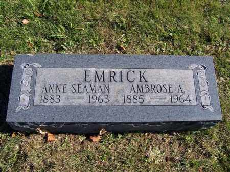 EMRICK, ANNE SEAMAN - Champaign County, Ohio | ANNE SEAMAN EMRICK - Ohio Gravestone Photos