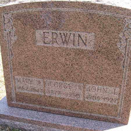 ERWIN, GEORGE W. - Champaign County, Ohio | GEORGE W. ERWIN - Ohio Gravestone Photos