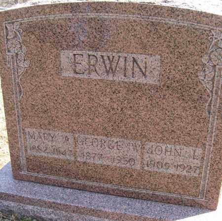 ERWIN, JOHN L. - Champaign County, Ohio | JOHN L. ERWIN - Ohio Gravestone Photos
