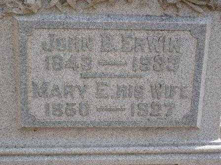 ERWIN, MARY E. - Champaign County, Ohio | MARY E. ERWIN - Ohio Gravestone Photos