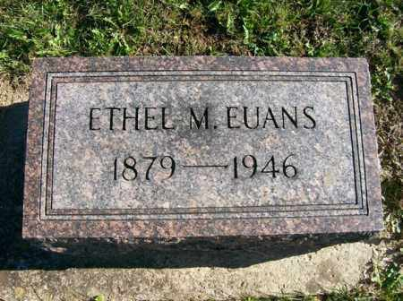 EUANS, ETHEL M. - Champaign County, Ohio | ETHEL M. EUANS - Ohio Gravestone Photos