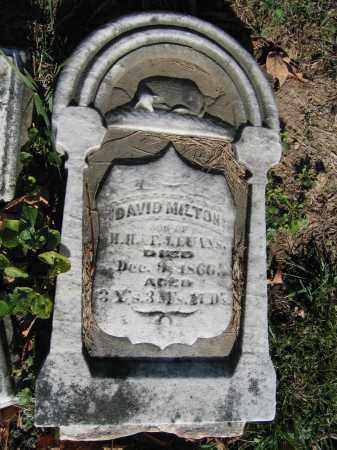 EVANS, DAVID MILTON - Champaign County, Ohio | DAVID MILTON EVANS - Ohio Gravestone Photos