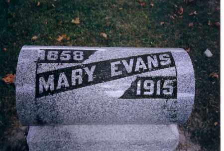 EVANS, MARY - Champaign County, Ohio | MARY EVANS - Ohio Gravestone Photos