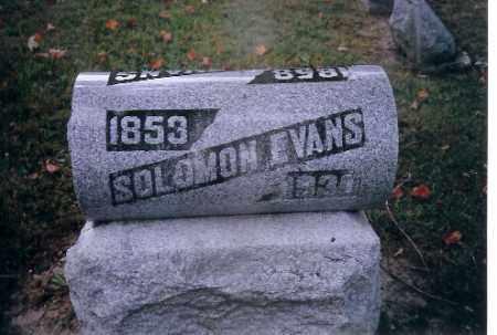 EVANS, SOLMAN - Champaign County, Ohio | SOLMAN EVANS - Ohio Gravestone Photos