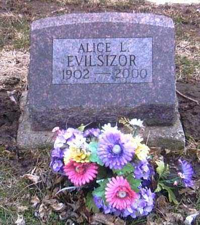 EVILSIZOR, ALICE L. - Champaign County, Ohio | ALICE L. EVILSIZOR - Ohio Gravestone Photos