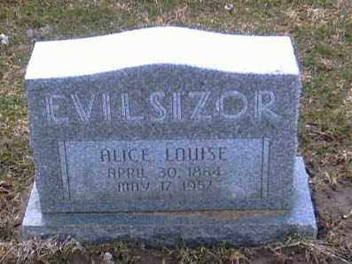 EVILSIZOR, ALICE LOUISE - Champaign County, Ohio | ALICE LOUISE EVILSIZOR - Ohio Gravestone Photos