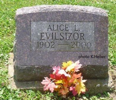 EVILSIZOR, ALICE LEONA - Champaign County, Ohio | ALICE LEONA EVILSIZOR - Ohio Gravestone Photos