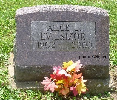 EVILSIZOR, ALICE LEONA - Champaign County, Ohio | ALICE LEONA EVILSIZOR - Ohio Gravestone Photos