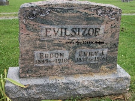 EVILSIZOR, EMILY JANE - Champaign County, Ohio | EMILY JANE EVILSIZOR - Ohio Gravestone Photos