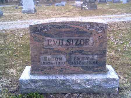 LOW EVILSIZOR, EMILY J. - Champaign County, Ohio | EMILY J. LOW EVILSIZOR - Ohio Gravestone Photos