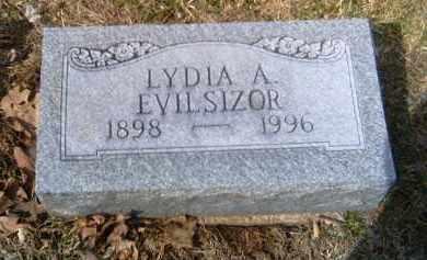 EVILSIZOR, LYDIA A. - Champaign County, Ohio | LYDIA A. EVILSIZOR - Ohio Gravestone Photos