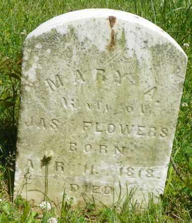 FLOWERS, MARY - Champaign County, Ohio | MARY FLOWERS - Ohio Gravestone Photos
