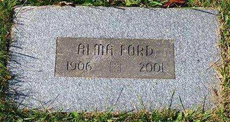 FORD, ALMA - Champaign County, Ohio   ALMA FORD - Ohio Gravestone Photos