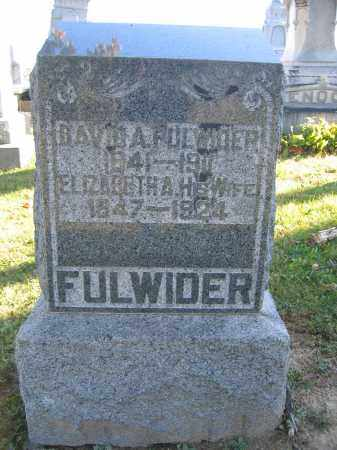 FULWIDER, DAVID A. - Champaign County, Ohio | DAVID A. FULWIDER - Ohio Gravestone Photos