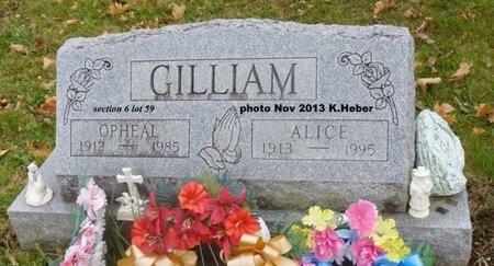 ADKINS GILLIAM, ALICE LAURA - Champaign County, Ohio   ALICE LAURA ADKINS GILLIAM - Ohio Gravestone Photos
