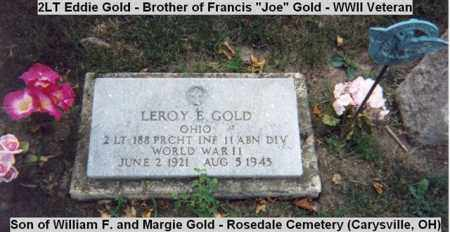 GOLD, LEROY E. - Champaign County, Ohio | LEROY E. GOLD - Ohio Gravestone Photos