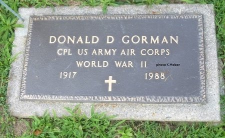 GORMAN, DONALD DAVIS - Champaign County, Ohio | DONALD DAVIS GORMAN - Ohio Gravestone Photos