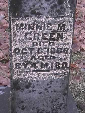 GREEN, MINNIE M - Champaign County, Ohio | MINNIE M GREEN - Ohio Gravestone Photos