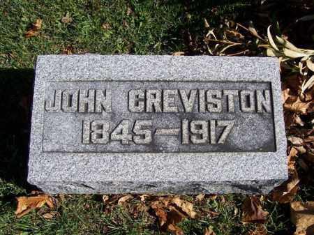 GREVISTON, JOHN - Champaign County, Ohio | JOHN GREVISTON - Ohio Gravestone Photos