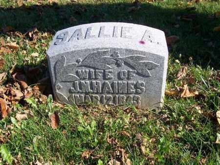 HAINES, SALLIE A. - Champaign County, Ohio | SALLIE A. HAINES - Ohio Gravestone Photos