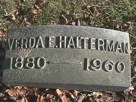 HALTERMAN, VERDA E. - Champaign County, Ohio | VERDA E. HALTERMAN - Ohio Gravestone Photos