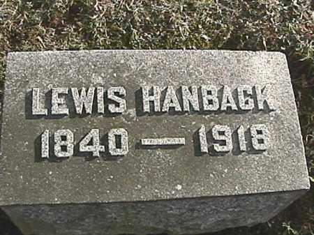 HANBACK, LEWIS - Champaign County, Ohio | LEWIS HANBACK - Ohio Gravestone Photos