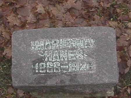 HANES, MARIETTA - Champaign County, Ohio | MARIETTA HANES - Ohio Gravestone Photos