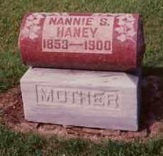 HANEY, NANNIE S. CHAPLIN - Champaign County, Ohio | NANNIE S. CHAPLIN HANEY - Ohio Gravestone Photos