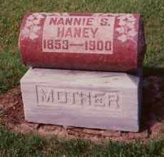 HANEY, NANNIE S. CHAPLIN - Champaign County, Ohio | NANNIE S. CHAPLIN HANEY - Ohio Gravestone Photos