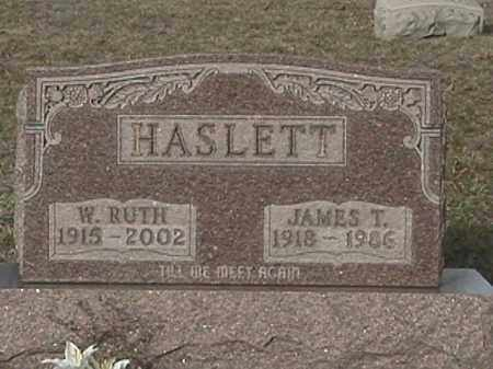 HASLETT, W. RUTH - Champaign County, Ohio | W. RUTH HASLETT - Ohio Gravestone Photos