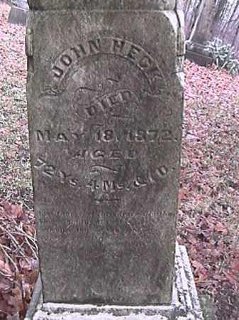 HECK, JOHN - Champaign County, Ohio | JOHN HECK - Ohio Gravestone Photos