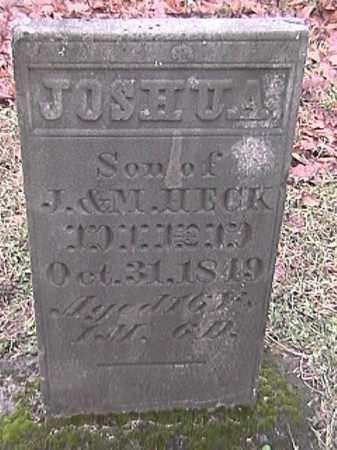 HECK, JOSHUA - Champaign County, Ohio | JOSHUA HECK - Ohio Gravestone Photos