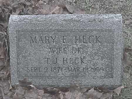 HECK, MARY E. - Champaign County, Ohio | MARY E. HECK - Ohio Gravestone Photos