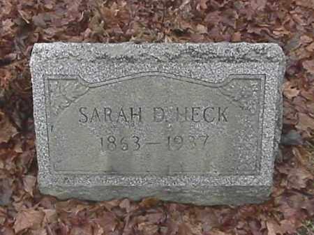 HECK, SARAH D. - Champaign County, Ohio | SARAH D. HECK - Ohio Gravestone Photos