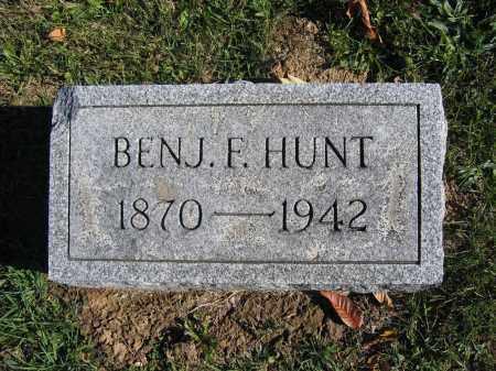 HUNT, BENJAMIN F. - Champaign County, Ohio | BENJAMIN F. HUNT - Ohio Gravestone Photos