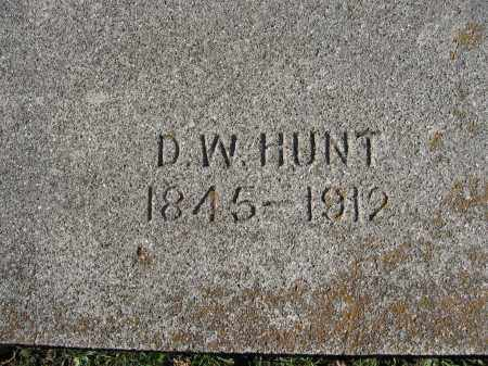 HUNT, D. W. - Champaign County, Ohio | D. W. HUNT - Ohio Gravestone Photos