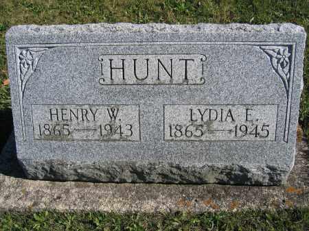 HUNT, LYDIA E. - Champaign County, Ohio | LYDIA E. HUNT - Ohio Gravestone Photos