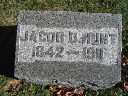 HUNT, JACOB D. - Champaign County, Ohio | JACOB D. HUNT - Ohio Gravestone Photos