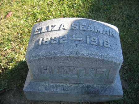 HUNTER, ELIZA SEAMAN - Champaign County, Ohio | ELIZA SEAMAN HUNTER - Ohio Gravestone Photos