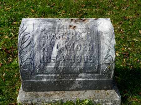 HYLANDER, MARTHA F. - Champaign County, Ohio | MARTHA F. HYLANDER - Ohio Gravestone Photos