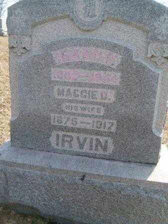 IRVIN, MARGARET D. - Champaign County, Ohio | MARGARET D. IRVIN - Ohio Gravestone Photos
