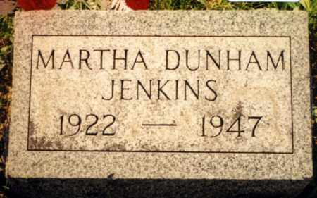 DUNHAM JENKINS, MARTHA - Champaign County, Ohio | MARTHA DUNHAM JENKINS - Ohio Gravestone Photos