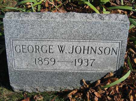 JOHNSON, GEORGE W. - Champaign County, Ohio | GEORGE W. JOHNSON - Ohio Gravestone Photos