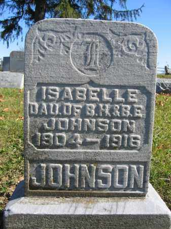 JOHNSON, ISABELLE - Champaign County, Ohio | ISABELLE JOHNSON - Ohio Gravestone Photos