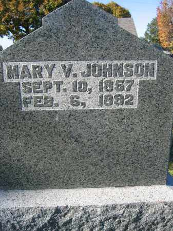 JOHNSON, MARY V. - Champaign County, Ohio | MARY V. JOHNSON - Ohio Gravestone Photos