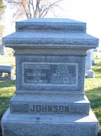 JOHNSON, SARAH - Champaign County, Ohio | SARAH JOHNSON - Ohio Gravestone Photos