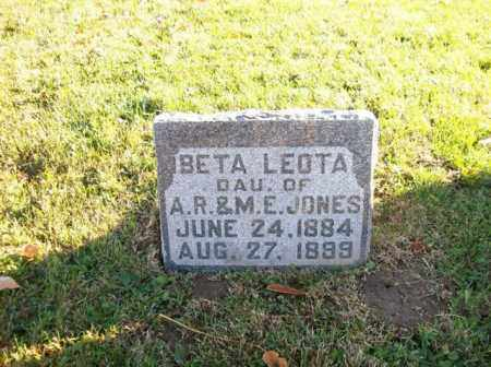 JONES, BETA LEOTA - Champaign County, Ohio | BETA LEOTA JONES - Ohio Gravestone Photos